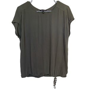 Express Olive Green Short Sleeve Blouse